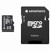 AgfaPhoto Mobile High Speed 64GB MicroSDXC Class 10 Memory Card + adapter