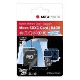 AgfaPhoto MicroSDXC UHS I 64GB Prof. High Speed Memory Card