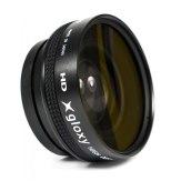 Gloxy 52mm Wide Angle 0.45X  + Macro Lens Black