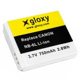 Gloxy Canon NB-6L Battery
