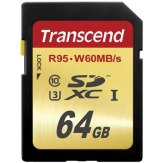 Transcend SDXC 64GB Class 10 UHS-I Memory Card