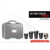 Samyang Cinema Kit 4 14mm, 24mm, 35mm, 16mm, 500mm Sony A