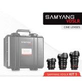 Samyang Cine Lens Kit 3 8mm, 16mm, 35mm Sony