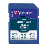 Verbatim 32GB Pro SDHC Memory Card Class 10