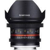 Samyang 12mm V-DSLR T2.2 NCS CS Lens Micro 4/3