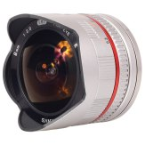 Samyang 8mm f/2.8 Fish Eye Lens Samsung NX Silver