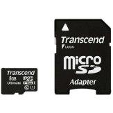 Transcend 8GB MicroSDHC Card 600x Class 10 UHS-I MLC + Adapter