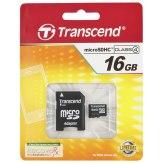 Transcend 16GB MicroSDHC Card Class 4 + Adapter