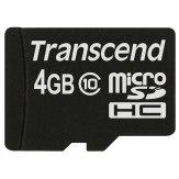 Transcend 4GB MicroSDHC Card Class 10