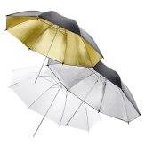 Walimex 3 Reflex / Translucent Light Umbrellas 84cm