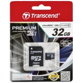 Transcend 32GB MicroSDHC Class 10 UHS-I + SD Adapter