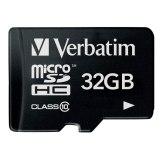 Verbatim 32GB MicroSDHC Class 10 Card + Adapter