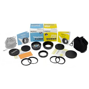 Gloxy Mega Kit Wide Angle, Macro and Telephoto Conversion Lenses