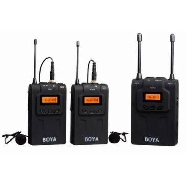 Boya BY-WM8 Dual Channel UHF Wireless Microphone System + 2.5mm Adapter for Fujifilm FinePix HS50EXR