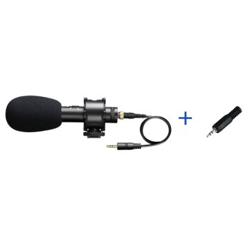 Boya BY-PVM50 Stereo Condenser Microphone + 2.5mm Adapter for Fujifilm X100T