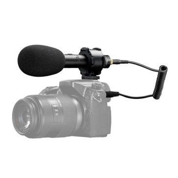 Boya BY-PVM50 Stereo Condenser Microphone + 2.5mm Adapter for Fujifilm FinePix HS50EXR