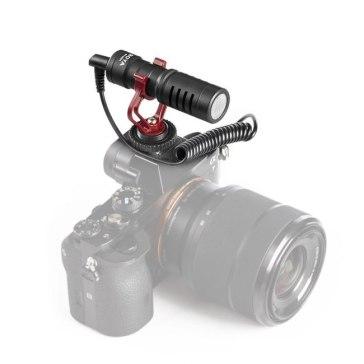 Boya BY-MM1 Cardiod Microphone + 2.5mm Adapter for Fujifilm FinePix HS50EXR