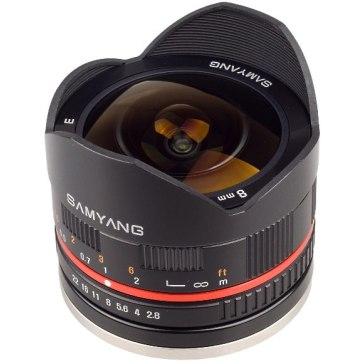 Samyang 8mm f/2.8 Fish Eye Lens Fuji X Black for Fujifilm X-A2