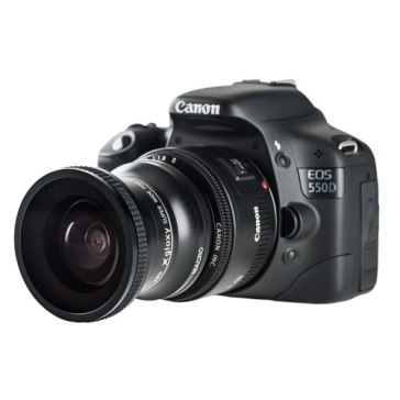 Gloxy 0.25x Fish-Eye Lens + Macro for Fujifilm E550