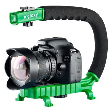 Gloxy Movie Maker Stabilizer Handle Green