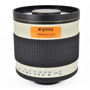 Gloxy 500mm f/6.3 Mirror Telephoto Lens