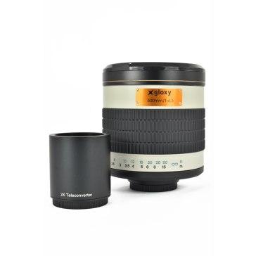 Gloxy 500-1000mm f/6.3 Mirror Telephoto Lens for Nikon for Fujifilm FinePix S3 Pro