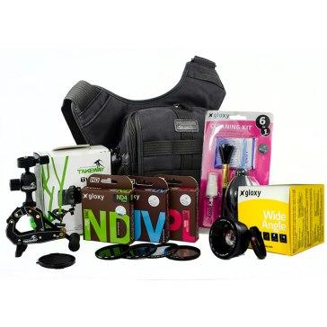 15 Pieces Set for 67 mm Reflex Cameras Black for Olympus E-5