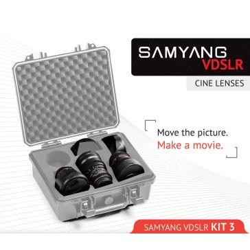 Samyang Cine Lens Kit 8mm + 16mm + 35mm for Fujifilm FinePix S3 Pro