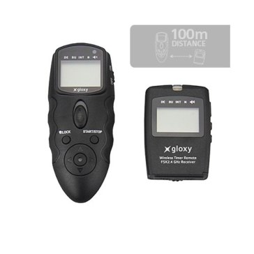 Gloxy WTR-C Wireless Intervalometer Multi-Exposure Timer for Canon, Pentax