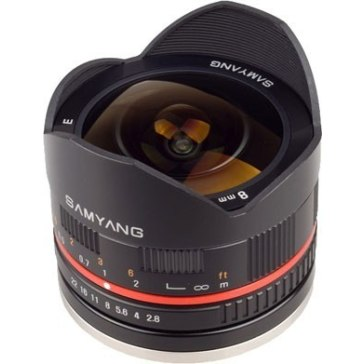 Samyang 8mm f/2.8 Fish Eye Lens Samsung NX Black for Samsung NX2000